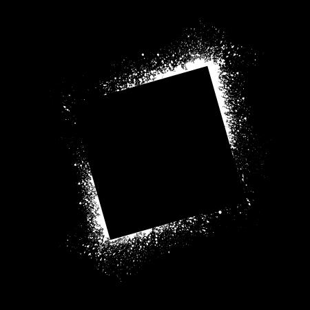 splatter paint: Square spray paint blots. Illustration