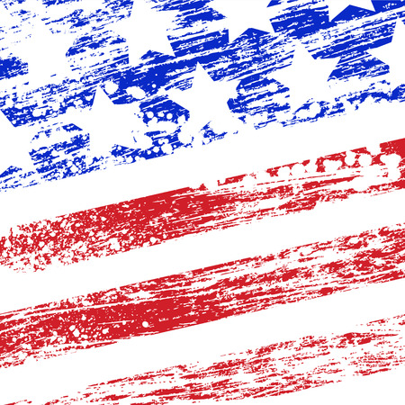Abstract grunge usa flag. Illustration