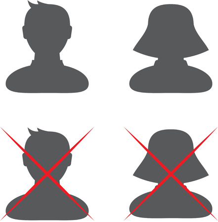 Set of four default profile icons.  Stock Vector - 22550637
