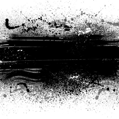 White grunge background with ink blots.