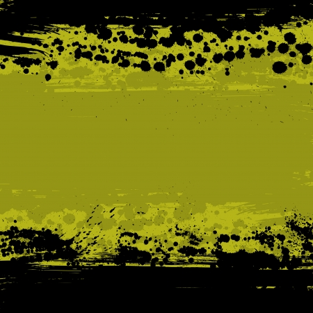 Yellow ink blots abstract background.