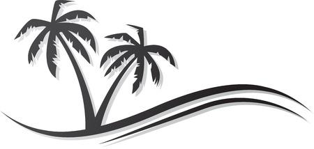Abstract palms black icon.  Illustration