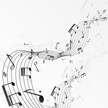 Background with music notes. Vector