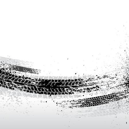 huellas de llantas: Negro pista de fondo de los neum�ticos. eps10 Vectores