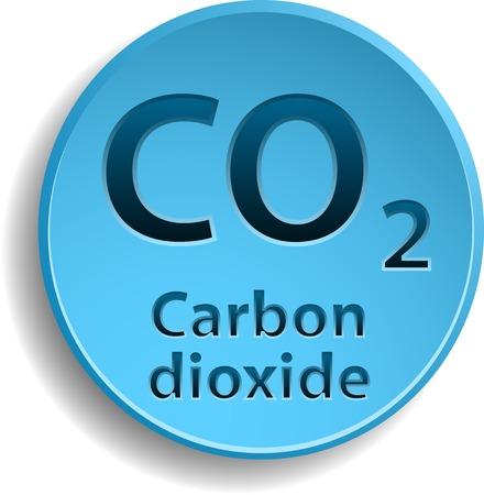 dioxide: Button with carbon dioxide.