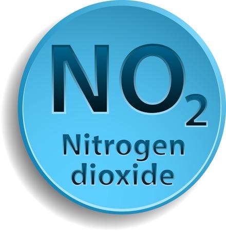 dioxide: Blue button with nitrogen dioxide.