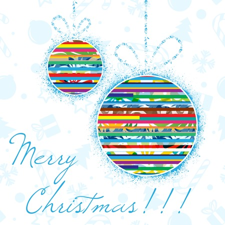 contemporary design: Christmass background with blue text.