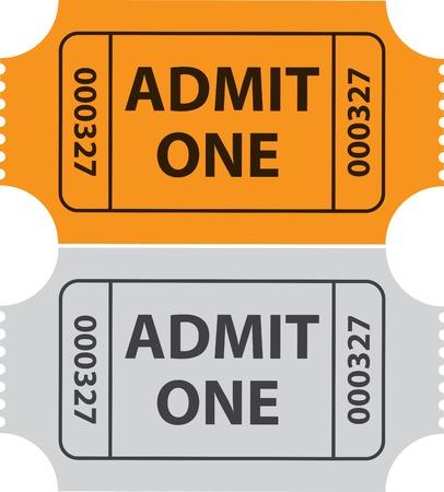 admit one: Tickets