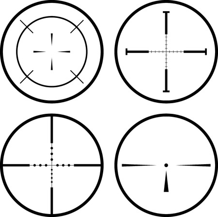 gun sight: Sniper scope Illustration