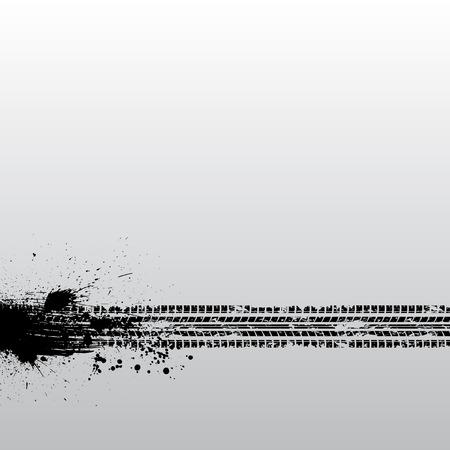タイヤ トラック グランジ  イラスト・ベクター素材