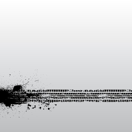 Tire track grunge Vector