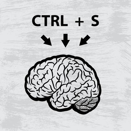mentality: Brain black Illustration