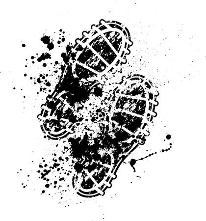 Schuhe drucken Tintenflecken Vektorgrafik