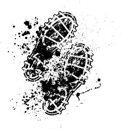 Shoes print ink blots Vector