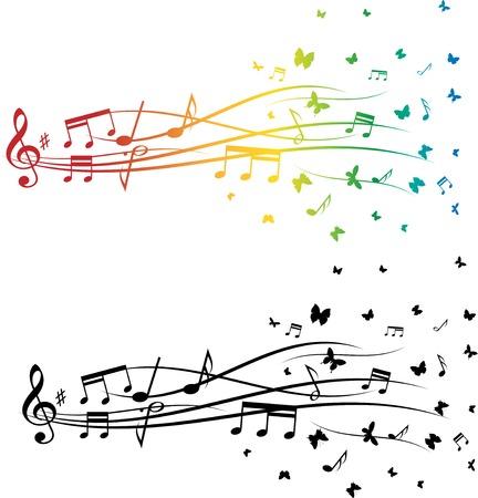 Music notes set Illustration