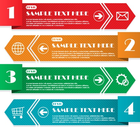 Infographic four lines Vector