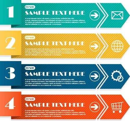 retro label: Infographic Illustration