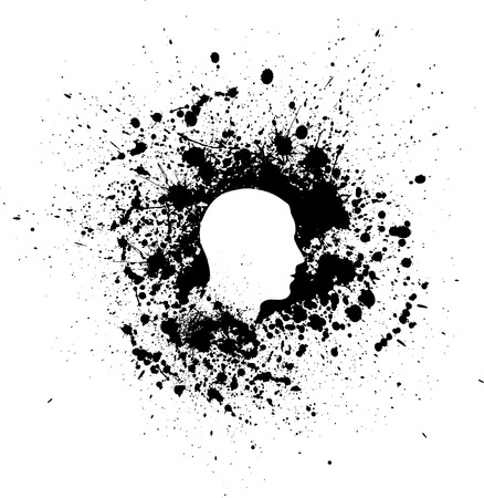 Head ink blots Ilustrace