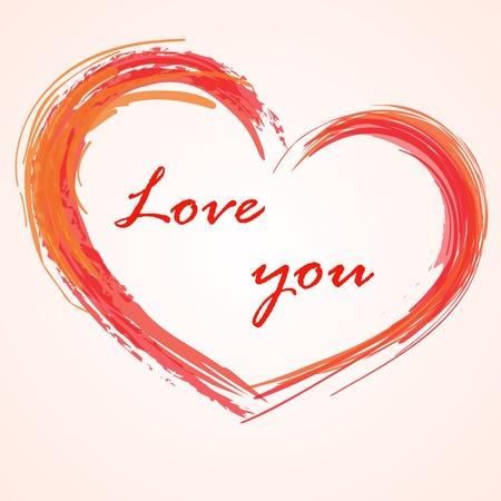Love background heart Vector