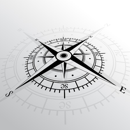dial compass: Wind rose background
