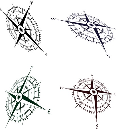 compass rose: Wind roses set