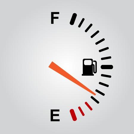 燃料の徴候  イラスト・ベクター素材