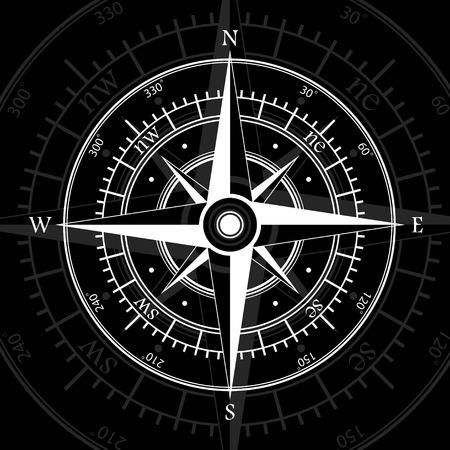 windrose: Compass black