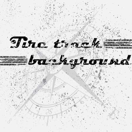 Tire track background blots Vector