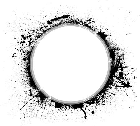 Ink blots circle
