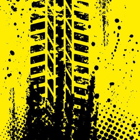 wallpapper: Pista della gomma giallo wallpapper