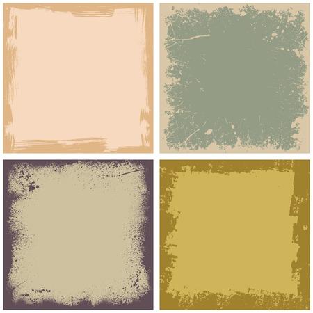 Four grunge frames Illustration