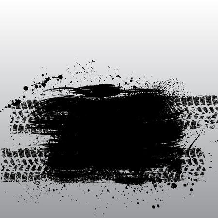 skidding: Grunge tire track