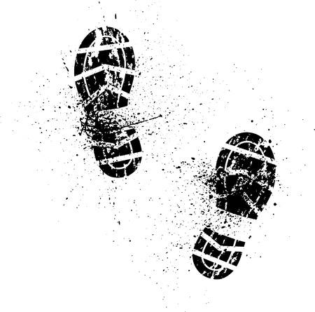 huella pie: Huella de zapato Splash Vectores
