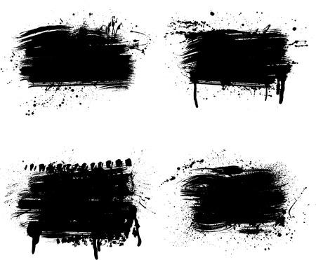 Grunge line parts 向量圖像