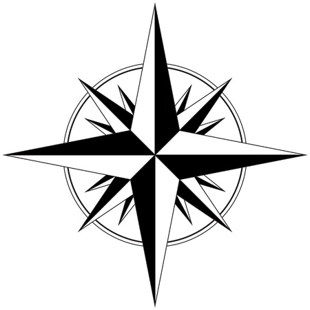kompas: Větrná růžice Ilustrace