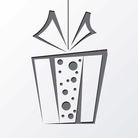 Gift box symbol isolated on white background.