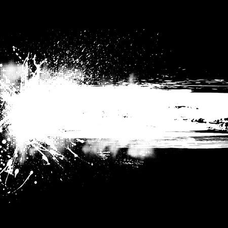 Fondo negro con manchas de tinta blanca y medios tonos. Foto de archivo - 43853783