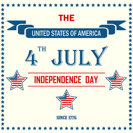USA independence day background in national colors. eps10