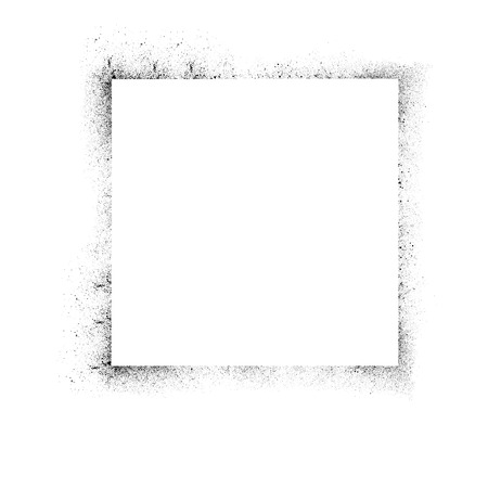 ink blots: White background with square and ink blots frame. eps10 Illustration