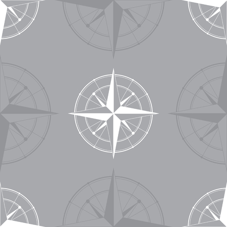 wind: White wind rose isolated on gray background. eps10