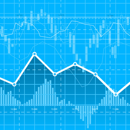 stock market charts: Abstract blue business background with diagrams. eps10