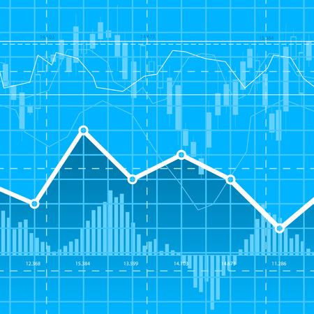 Résumé fond bleu business avec des diagrammes. eps10 Banque d'images - 45500648