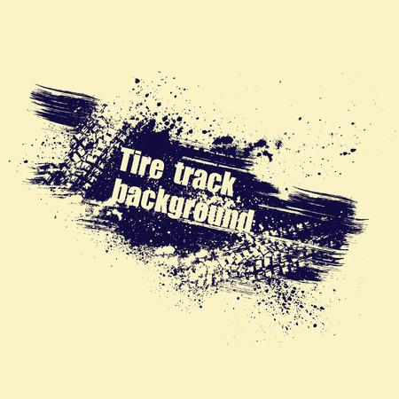 Gele achtergrond met banden track en grunge splash. eps10 Stock Illustratie