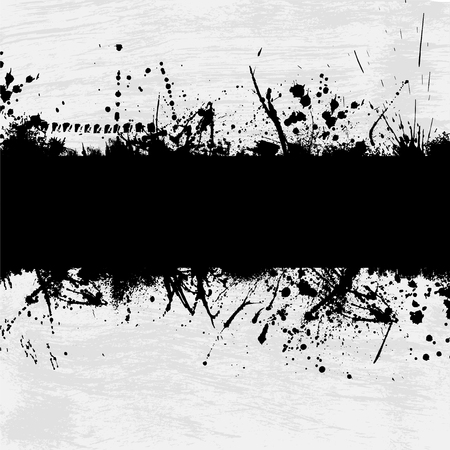 grunge brush: Grunge gray background with abstract ink splash. eps10