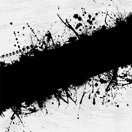 brushes: Abstract grunge background with black ink blots. eps10