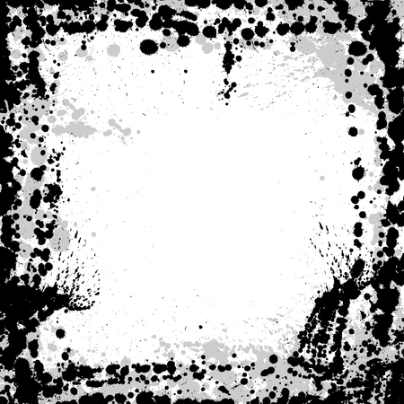 ink blots: White background with black ink blots. eps10 Illustration