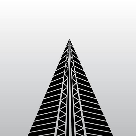 nascar: Black tire track silhouette on gray background. eps10 Illustration