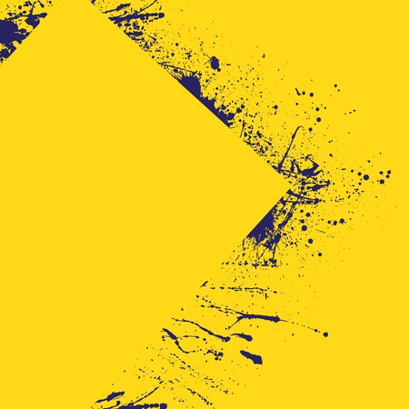 ink blots: Blue background with yellow ink blots.
