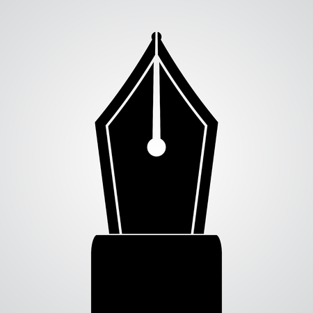 sander: Black pen icon isolated on white.