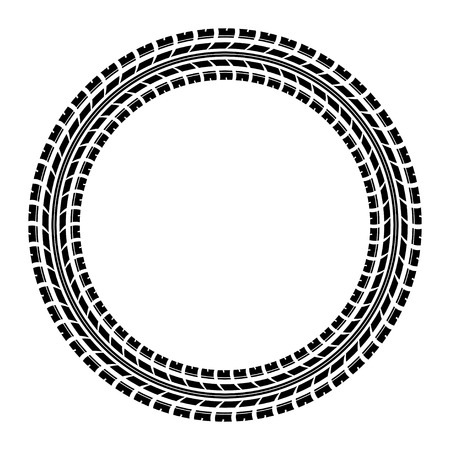 skidding: Black tire track silhouette in circle